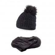 Komplet PaMaMi, czapka i szalik - Ciemnoszary