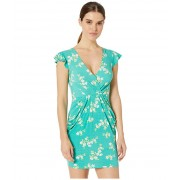 BCBGeneration Drapey Pocket Flutter Sleeve Dress - TWX6200128 Jade Green