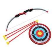 Wembley Toys Sports Super Archery Bow and Arrow Set for Kids with Dart Target Board, Colorful with 3 Suction Cup Tip Arrows (ARROWSET)