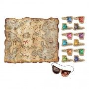 Pirate Treasure Map Party Game (mask & 12 flags included) Party Accessory (1 count) (1/Pkg)