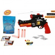 Conqueror 3 in 1 Powerful Featured Kids Bullet Toy Gun with Music (Multicolor)