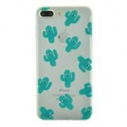 GadgetBay Coque en TPU cactus transparent pour iPhone 7 Plus 8 Plus