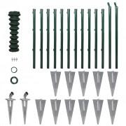 vidaXL horganyzott acél drótkerítés horgony tüskékkel 1,0 x 25 m