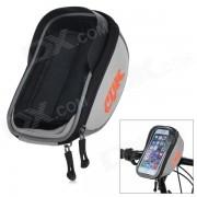 CBR CBR-010 Bicicleta manillar montado de pantalla tactil telefono bolsa bolsa con el escudo brillo - plata