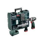 Винтоверт акумулаторен, METABO POWERMAXX BS BASIC SET, 10.8V, 34Nm, 2x2Ah (600080880)