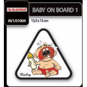 Stiker auto baby on bord