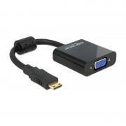 Delock Adapter HDMI-mini C male VGA female black