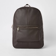 River Island Mens Brown faux leather backpack (One Size)