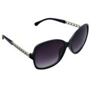 Joe Black Over-sized Sunglasses(Violet)