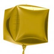 Balon folie cubez 3D auriu - 45cm, Northstar Balloons 01011