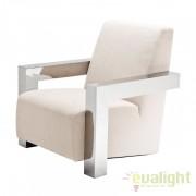 Fotoliu design modern, elegant si confortabil cu tesatura de panama Franco 109109 HZ