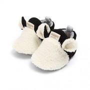 VIENNAR Zapatos de bebé recién nacido para niña, suela suave, antideslizante, para cuna, para recién nacidos, Blanco, 12-18 Months Toddler