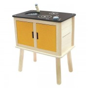 Plan Toys Drewniana nowoczesna kuchnia dla dzieci - ekologiczna kuchenka do zabawy,
