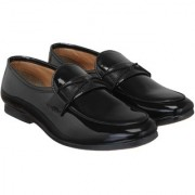 Monty player Men's black Synthetic Leather Slip On Formal Shoes