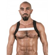 Mister B Urban X Back Club Harness Black/White 820567
