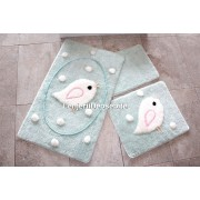 Set 3 covorase baie, Alessia Home, Birdie - Mint