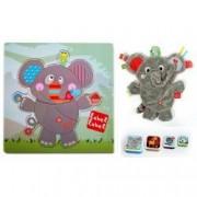 Pachet 2 Label Label minipaturica puzzle si 4 cutii sandwich Produsul 1 - Elefant