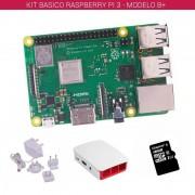 tiendatec RASPBERRY PI 3 - MODELO B+ - KIT BASICO (16GB BLANCO)