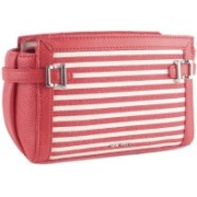 Nine West Women Casual Red, White Genuine Leather Sling Bag