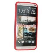 Силиконов гръб ТПУ за HTC One Mini M4 Червен