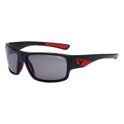 CEBE Ochelari de soare sport barbati Cebe WHISPER MATT BLACK RED 1500 GREY POLARIZED AR FM