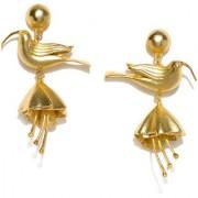 RUBANS Gold Color Animal Shaped Drop Earrings