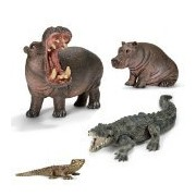 Schleich Exclusive River Animals Scenery Pack