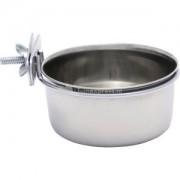 Rvs coop cups met houder en schroefdraad - 9 cm