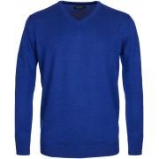 Profuomo Pullover Merino V-Hals Royal - Blau S