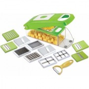 Jay Balaj 12 in 1 Fruit Vegetable Graters Slicer Chipser Dicer Cutter Chopper Deluxe Model with Unbreakable ABS Box.