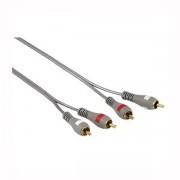 Audio Kabl 2x činč (muški) na 2x činč (muški), 3m, pozlaćeni, duplo izolovan, HAMA 78702