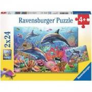 Детски пъзел 2 в 1 - Подводна красота - Ravensburger, 7009017