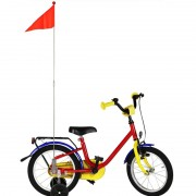 Oranje fietsvlaggetje voor kinderfiets