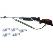 Prijam Air Gun Rifle 350 Model Brown Color Metal Body For Perfect Target Practice 500 Pellets Free