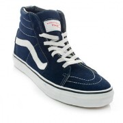 MR.SHOES 721278-NAVY/WHITE UNISEX LACE-UP HIGH-TOP SNEAKERS