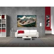 Tablou canvas barca veche - cod A33