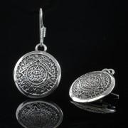 Tzolkin - Silver örhängen mayas heliga kalender