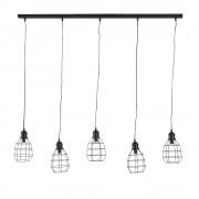 Maisons du Monde Lámpara de techo industrial 5 focos de alambre negros