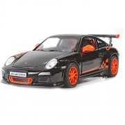 Kinsmart 1:36 Scale 2010 Porsche 911 GT RS Metal Car (Black)