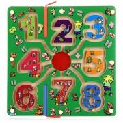 Número De Madera Pluma Magnética Labyrinth Puzzle Toy Para Niños