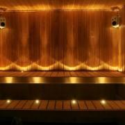 18 delad LED bastubelysningsserie, med stålram