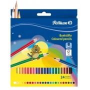 Creioane color Lacuite Pelikan 24/set