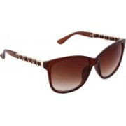 Olvin Retro Square Sunglasses(Brown)