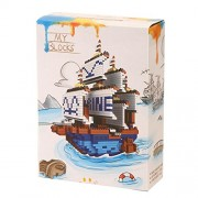 Tokenz Micro Blocks Barque Ship Assembly and Block Building Set 1264 Pcs Assembly Toys for Kids Birthday Gifts for Kids