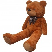 vidaXL XXL Soft Plush Teddy Bear Toy Brown 175 cm
