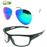 Elligator Reflected Aviator Sunglasses With White Night Vision