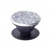 PopSockets Ausziehbarer Sockel und Griff für Handys u - Silver Crystals Swarovski