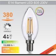 Mitea Lighting Sijalica LED 230V 470lm 2700K (E14 filament B35 4W)