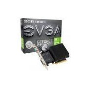 Placa de Vídeo NVIDIA GeForce GT 710 2GB DDR3 02G-P3-2712-KR EVGA