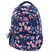 "Ghiozdan scoala Fashion Art Mesco 16""- Flowers & Butterflyes"